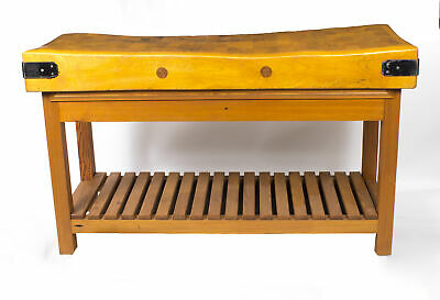 A Large Mid Century Modernist Butchers Block-Table circa 1960's