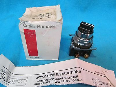 Lot Of 2 New Cutler Hammer 10250T 91000T 2-Position Selector Switch