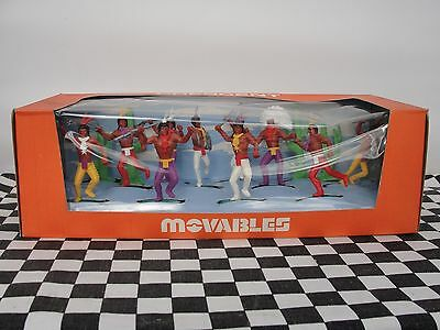 Crescent Movables 1960's Indians Set No. 903  New Old Stock Boxed