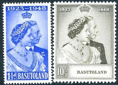 BASUTOLAND-1948 Royal Silver Wedding Set Sg 36-37 MOUNTED MINT V17320