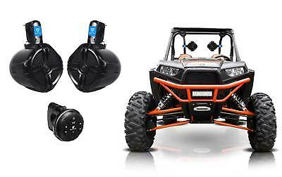 "Planet Audio Powered Bluetooth Control+(2) 6.5"" Tower Speakers RZR/ATV/UTV/CART"