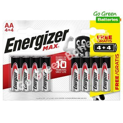 8 x Energizer AA MAX Alkaline Powerseal Batteries LR6 MN1500 MIGNON 2026 Expiry