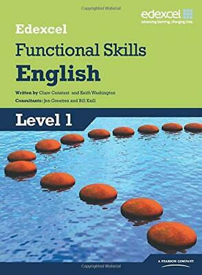 Edexcel Level 1 Functional English Student Book by Washington, Keith Paperback