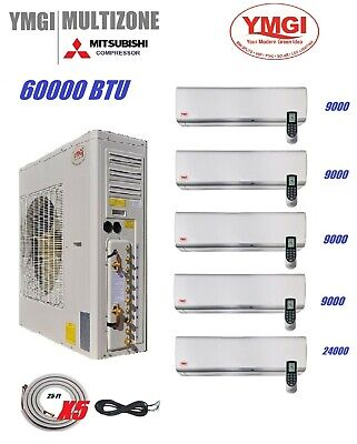 YMGI 60000 BTU 5 ZONE DUCTLESS SPLIT AIR CONDITIONER WITH