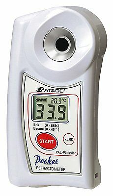 New! ATAGO Digital Hand-Held Pocket Refractometer PAL-Patissier from Japan!