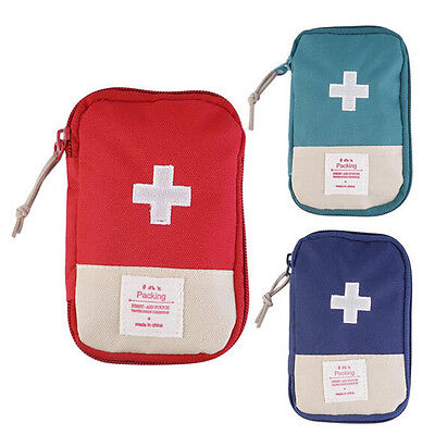 Camping Home Survival Portable First Aid Kit Bag Case Pill Tablet Pouch Trustful