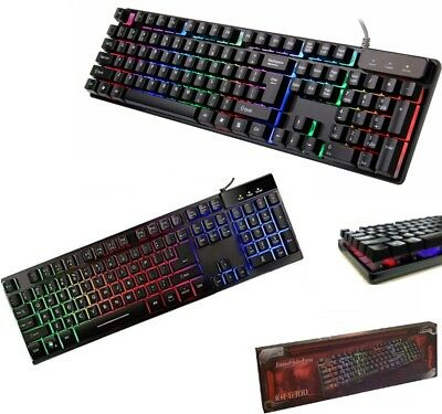 Tastiera Gaming Led Retroilluminata Illuminata Keyboard Usb Desktop Pc Computer