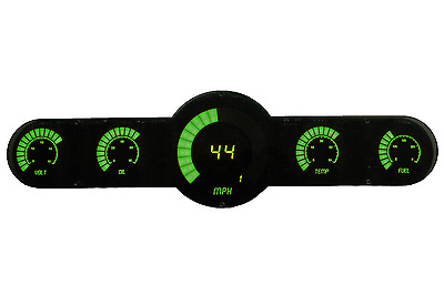 LED Universal Analog Bar Graph 6 Gauge Panel w/ Green Leds Made in the USA!!