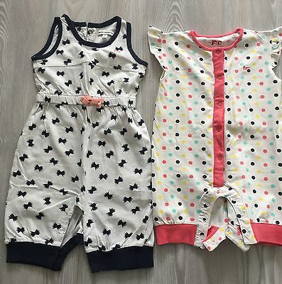 FRENCH CONNECTION baby girl romper suits (6-9 months) Good condition