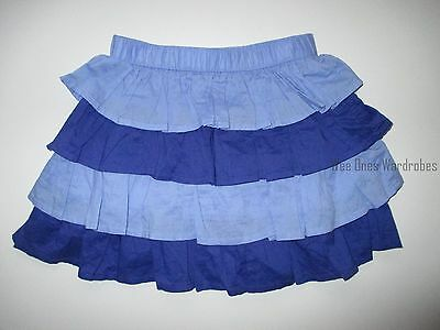 Gymboree Safari Smiles Blue Ruffle Tiered Skirt Toddler Girls 4T Twins NEW NWT