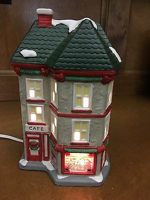 Lighted Coca-Cola Cafe from the Christmas Around the World Village Collection
