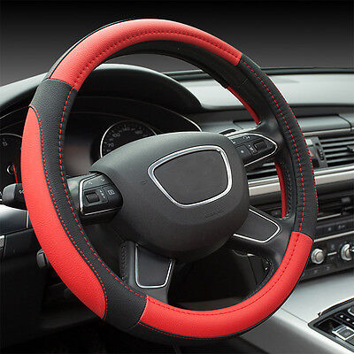 New sports style interior supplies color stitching Car steering wheel cover