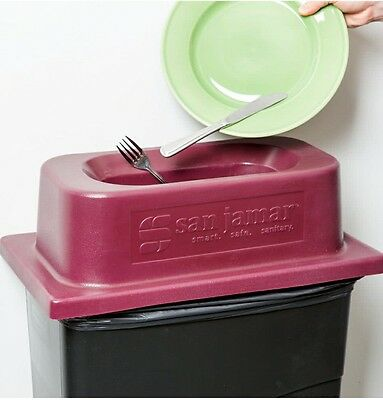 restaurant quality magnetic silverware catcher for slim jim trash can