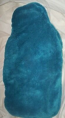 SOFT FEEL TEAL blue 2-LITRE HOT WATER BOTTLE COVER only