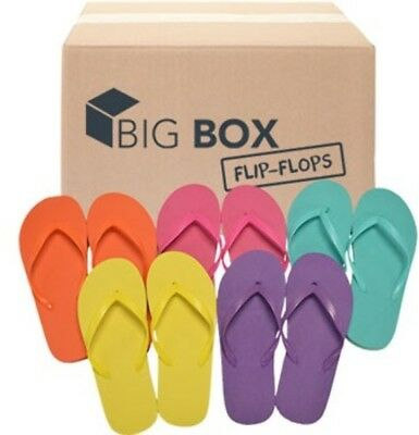 Lot of 48 Pairs Wholesale Women's Solid Color Flip Flops Sandals Flip Flop New