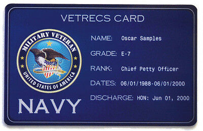 Veteran ID Card w/DD214 - Military - United States - USA Vet - Verifiable ID