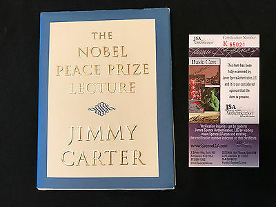 """Jimmy Carter """"The Nobel Peace Prize Lecture"""" Signed And Authenticated By Jsa"""