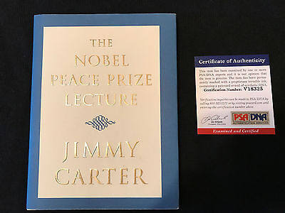 """Jimmy Carter """"The Nobel Peace Prize Lecture"""" Signed And Authenticated By Psa"""