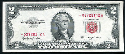 1953-C $2 Two Dollars *star* Red Seal Legal Tender United States Note Gem Unc