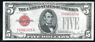 Fr. 1531 1928-F $5 Red Seal Legal Tender United States Note Gem Uncirculated