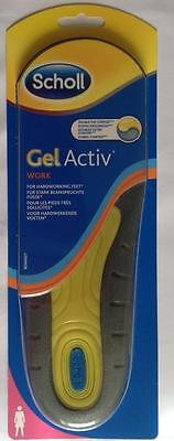 Scholl Gel Activ Work Insoles-Women-FITS SHOE SIZE UK (5 - 8)1 Pair(Genuine)