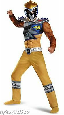 Power Rangers Dino Super Charge Gold Ranger Muscle 4 6 Small Costume New Child