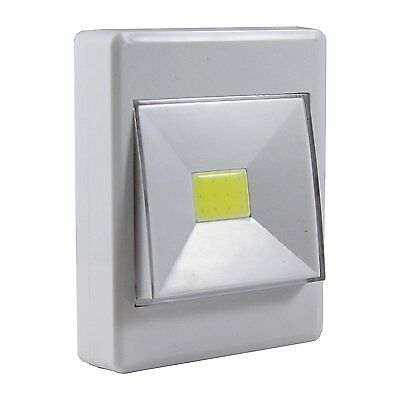 3 Watt 120 Lumen Handy Lamp Wireless COB White LED Rocker Switch Closet Light
