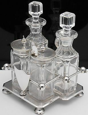 Antique Goldsmiths &  Silversmiths Co Cruet Set - Silver Plated