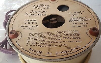 Vintage Garrard GDT3 Display Turntable