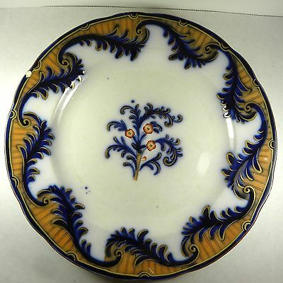 """Antique Plate Flow Blue Gold 10"""" Numbered"""