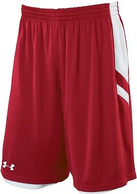 NEW! Under Armour Undeniable Reversable Short Red / White Youth Large
