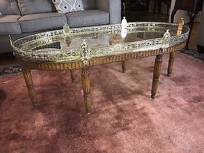 Spectacular French Louis XV Mid Century PLATEAU TABLE COFFEE Mirrored Glass TOP