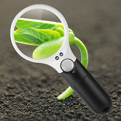 45X Magnifying Glass with Light Handheld Magnifier Magnifying Glass Lens