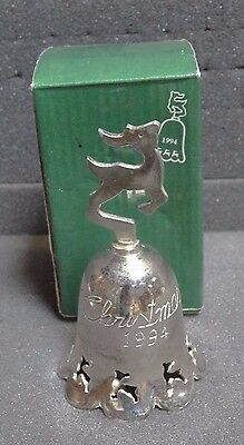 International Silver Co. Silver Plated Engraved Bell Christmas 1994