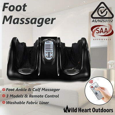 Deluxe Foot Massager 3D Ankle & Calf Kneading Rolling Vibration Machine Shiatsu