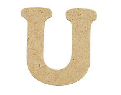 SALE - 10 Small 40mm Wooden MDF Letters - U | Wood Shapes for Crafts