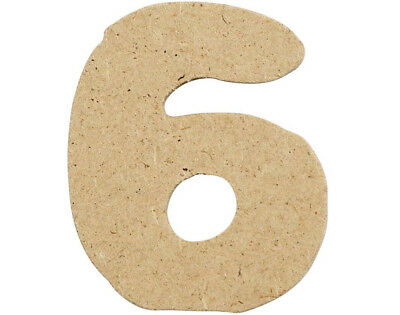 SALE - 10 Small 40mm Wooden MDF Numbers - 6 | Wood Shapes for Crafts