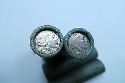 (1)Old Sealed Buffalo Nickel Roll // (stamped) BANK OF AMERICA // 40 Mixed Coins