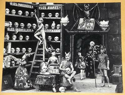 Freaky LES DIABLERIES Skull Vintage Photo Old WEIRD ODD Witch Creepy Horror 248