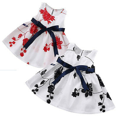 Summer Newborn Infant Baby Girl Party Pageant Dresses Kid Floral Cute Tutu Dress