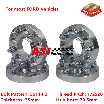 ASI 4PCS 5 Lugs Wheel Spacers For SUBARU BRZ IMPREZA WRX STI 12X1.25 5×100 15mm