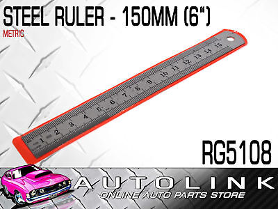 "STAINLESS STEEL 155mm OR 6"" METAL RULER - HOME WORKSHOP TRADE RG5108"