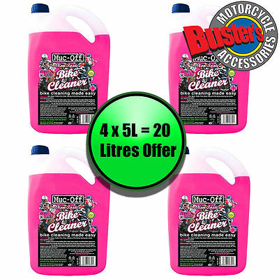 Muc Off Motorcycle Motocross Bike Nano Cleaner 5 Litre Four Pack 20 Litres Refil