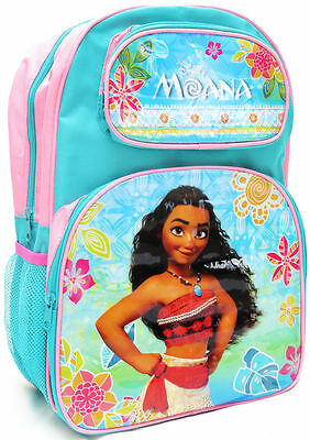 New Large Kids Backpack  Disney Moana School Bag Preschool Girls Pink Children B
