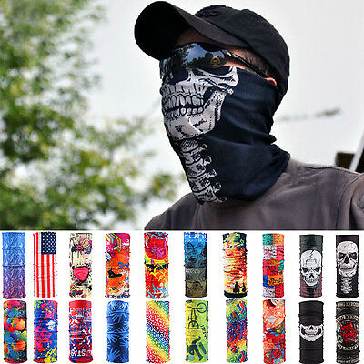 Head Face Mask Bandanas Neck Gaiter Snood Headwear Tube Scarf For Sports
