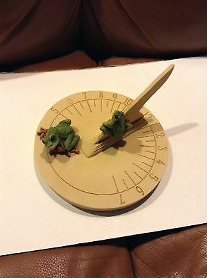 Frog Sun Dial Display Piece sculture,  Inside or Outside Decor