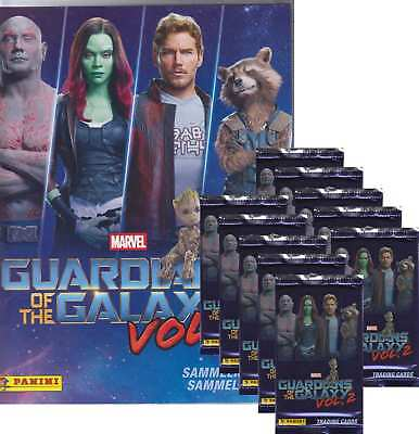 Panini - Marvel Guardians of the Galaxy Vol.2 - 10 Booster +1 Starterset-Deutsch