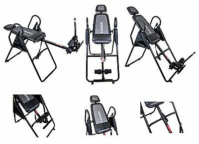 New Premium Foldable Gravity Inversion Table Back Therapy Fitness Reflexology