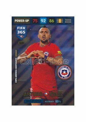 Panini Fifa 365 Cards 2017 - 368 - Arturo Vidal - Key Players - Chile