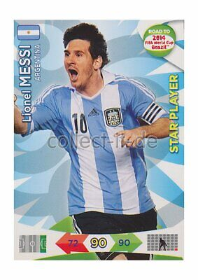 Panini Adrenalyn Road World Cup Brazil 9 - Lionel Messi - Star Player